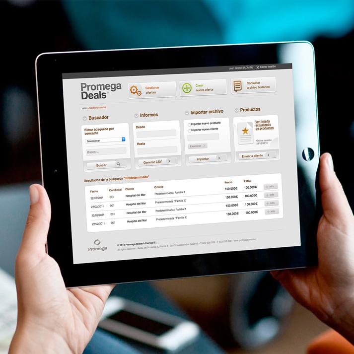 INCIPY casos de exito promega transformacion digital ipad